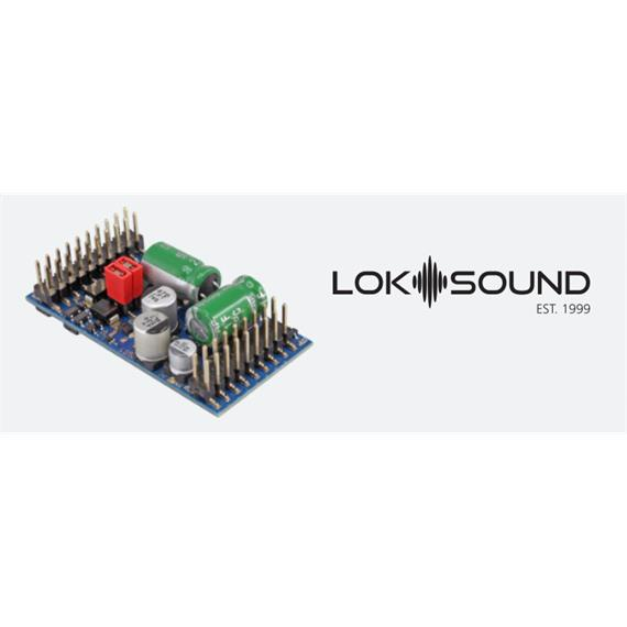 "ESU 58315 LokSound 5 L DCC/MM/SX/M4 ""Leerdecoder"", Stiftleiste/Adapter, Spur O / HO"