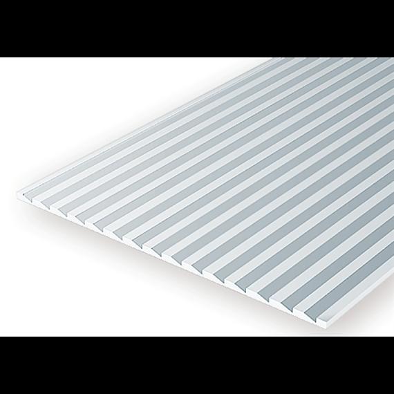 Evergreen 4083 Kunststoffplatte, 1x150x300 mm, Nutbreite 2,1 mm, 1 Stück