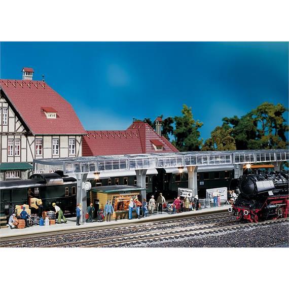 Faller 120188 Bahnsteig mit Kiosk Schönblick Spur H0