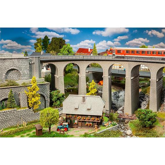Faller 120466 Viadukt-Set 2-gleisig gebogen HO