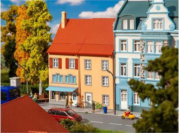 Faller 130711 2 Reliefhäuser Kleinstadt, H0 1:87