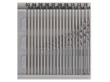 Faller 170523 Bohrersatz, 20-teilig, von 0,3 - 1,6 mm