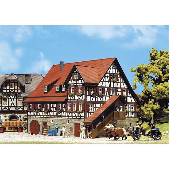 Faller Fachwerkhaus Mäulesmühle Spur H0