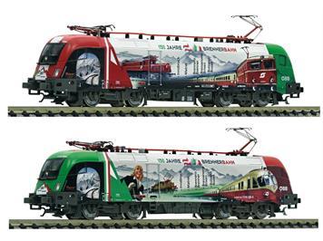 """Fleischman 731189 Elektrolokomotive Rh 1116 """"150 Jahre Brennerbahn"""" DCC/Sound, N"""