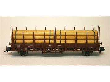 Fleischman Rungenwagen mit 2 Stapel Baumstämmen DB