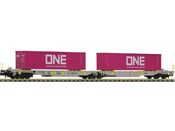 Fleischmann 825027 Doppeltaschen-Gelenkwagen T2000, AAE, mit Containern der Spedition ONE