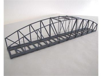 HACK 13320 HO Bogenbrücke 46 cm grau, B46 Fertigmodell aus Weissblech
