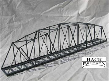 HACK 13450 HO Bogenbrücke 50 cm grau, B50 Fertigmodell aus Weissblech