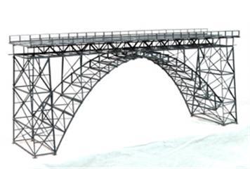 HACK 19010 H0 Hochbogenbrücke, Müngstener Brücke Mittelteil, 2-gleisig, 60 cm M60