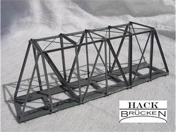 HACK 41050 Z Kastenbrücke 9,5 cm KZ9 Fertigmodell aus Weissblech