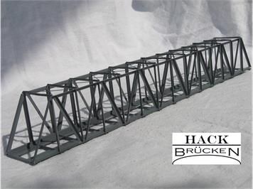 HACK 41100 Z Lange Kastenbrücke 25 cm KZ25 Feritgmodell aus Weissblech