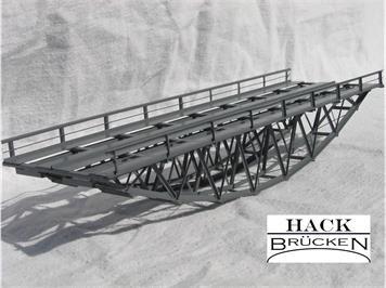 HACK 43150 Z Fischbauchbrücke 18 cm 2-gleisig BZ18-2 Fertigmodell aus Weissblech