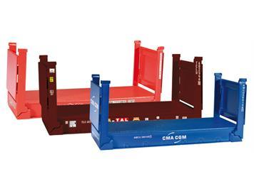 Herpa 076579 Zubehör 20 ft. Flatcontainer 3 Stk. HO