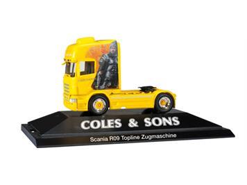 "Herpa 110679 Scania R '09 Topline Zugmaschine ""Coles & Sons"" GB HO"