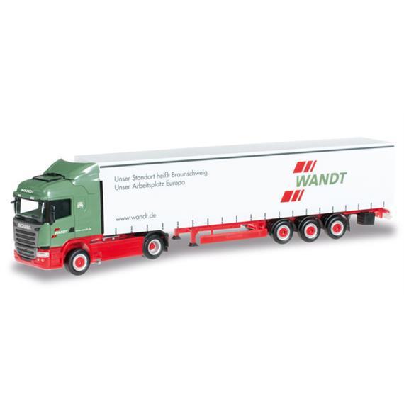 "Herpa 303996 Scania R'13 HL Gardinenplanen-Szg. ""Wandt"" HO"
