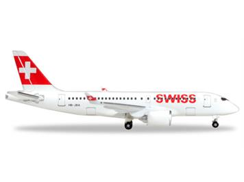 Herpa 530736 Swiss International Air Lines Bombardier CS100 Reg. HB-JBA 1:500