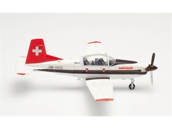 Herpa 580656 Swissair Pilatus PC-7, Massstab 1:72