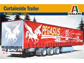 Italeri 3809 Curtainside Trailer Pegasus 1:24