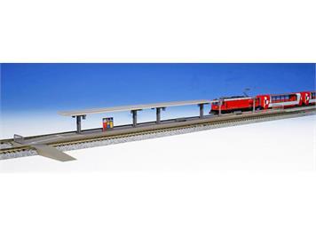 Kato 23-129 Bahnsteig für Glacier Express mit Bahninformation der RhB (74979) N