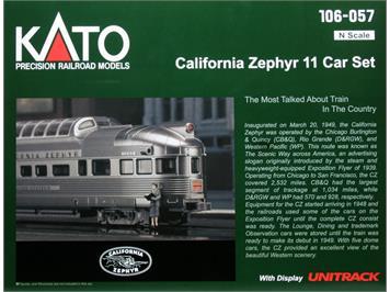 Kato California Zephyr 11-teilig