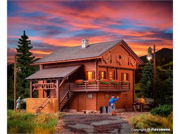 Kibri 38011 Berghaus mit Beleuchtungs-Startkit HO