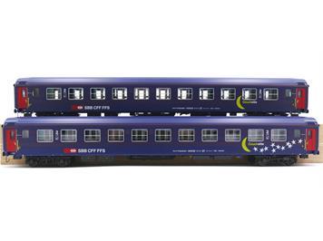 L.S. Models 47331 SBB Personenwagen UIC-X Bcm Moon & Stars 2er Set HO