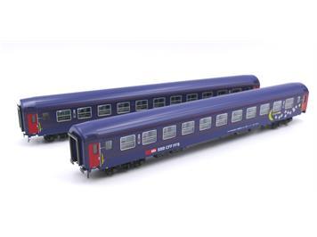 L.S. Models 47332 SBB Personenwagen UIC-X Bcm Moon & Stars 2er Set HO