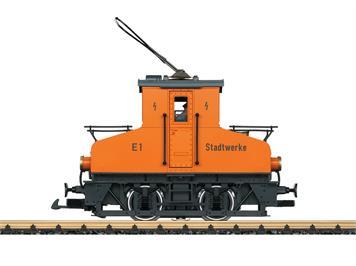 "LGB 20301 Elektro-Rangierlok ""Stadtwerk"" orange mfx/DCC mit Sound"