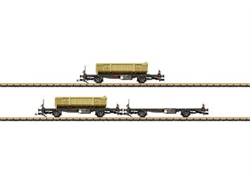 LGB 47899 Containertragwagen-Set RhB 3teilig