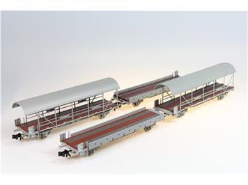 Liliput 260120 BLS Autotransportwagen-Set Nr. 1, 4-teilig, (2 Auffahr- & 2 Transportwagen)