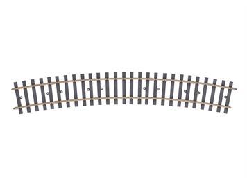 Märklin 1 59073 Gleis gebogen, Radius 1.394 mm. 22,5°. (H1041-2)