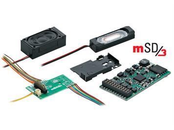 Märklin 60977 märklin SoundDecoder mSD3 mit Leiterplatte, voreingestellter E-Lok-Sound, H0