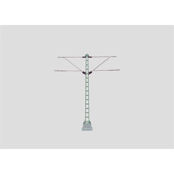 Märklin 74105 Gittermast und zwei Ausleger aus Metall, DB, H0 (1:87)