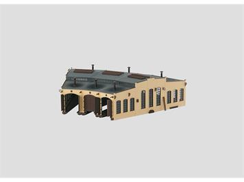 Märklin Bausatz Lokomotivschuppen