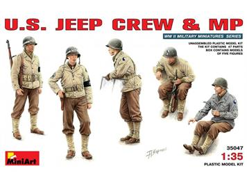 MiniArt 35047 U.S. Jeep Crew and MP 1:35