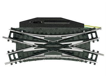 Minitrix 14968 Elektromagnetische Doppel-Kreuzungsweiche - 30°, N