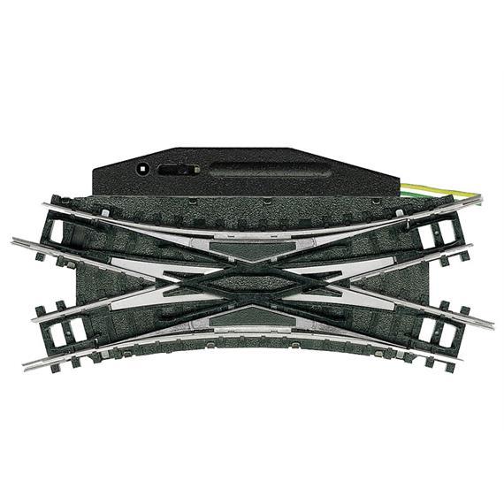 Minitrix 14968 Elektromagnetische Doppel-Kreuzungsweiche - 30°