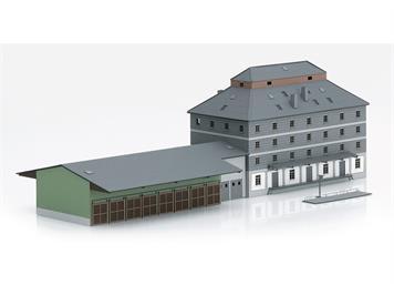 """Minitrix 66324 Bausatz """"Raiffeisen Lagerhaus mit Markt"""" N"""