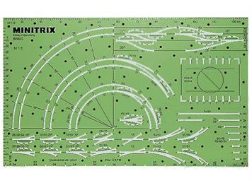 Minitrix 66600 Gleisplan-Schablone, Spur N (1:160)
