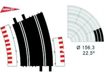 Ninco 10108 2 x grosser Radius R4 22,4°