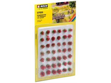 Noch 07035 Grasbüschel blühend, rot