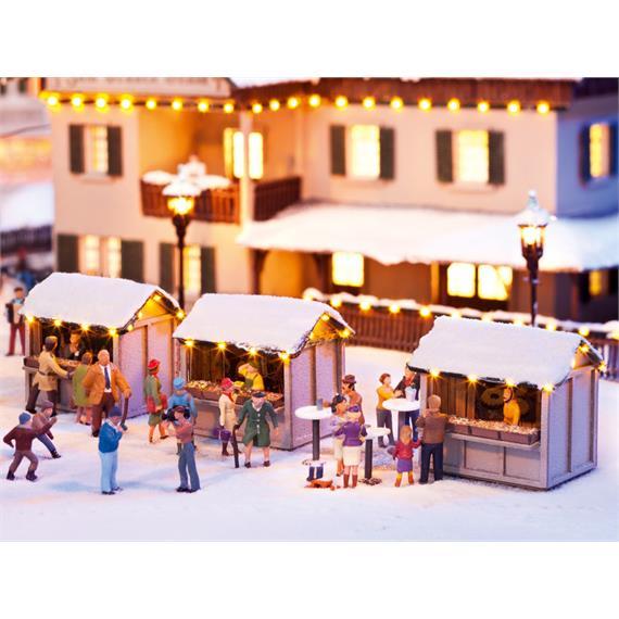 """Noch 12026 Laser-Cut """"Auf dem Weihnachtsmarkt"""" HO"""