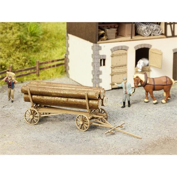 Noch 14243 L-C Holzfuhrwagen (ohne Beladung) HO