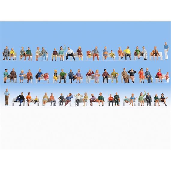 Noch 38402 Mega-Spar-Set sitzende Figuren N