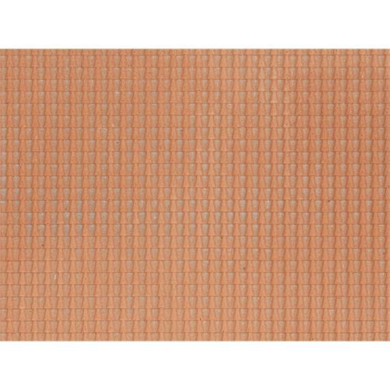 Noch 60350 Strukturfolie Dachpfanne rot