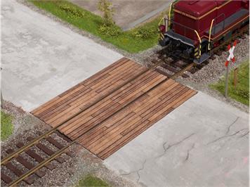 Noch 67105 Laser-Cut Bahnübergang Holzbohlen, Spur 0