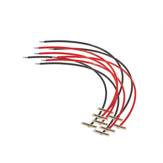 Peco PL-80 Schienenverbinder HO/O mit Kabel für Cd. 100/124 (4 Paar)