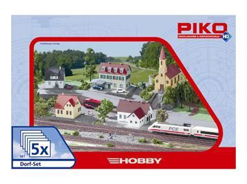 Piko 61925 Dorf-Set 5-teilig HO