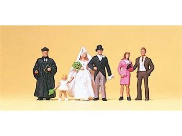 Preiser 10057 Brautpaar, evang. Pfarrer