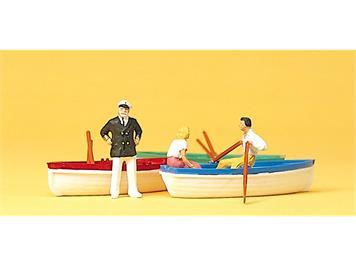 Preiser 10072 Bootsverleih mit 3 Booten